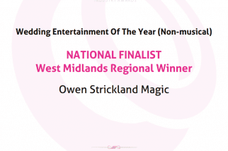 The Wedding Industry Awards Winner Owen Strickland