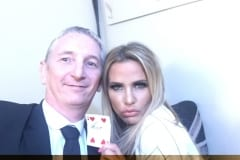 Katie Price magic with Staffordshire Corporate  Magician Owen Strickland