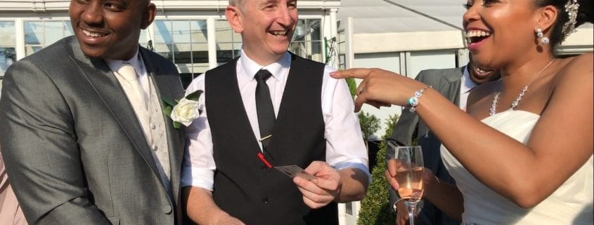 Hogarths Wedding Magician Owen Strickland