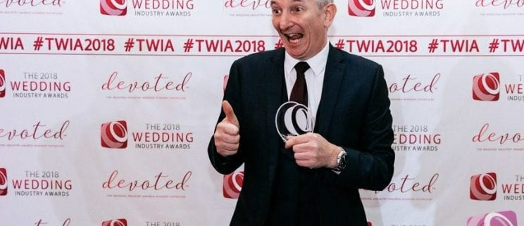 The 2018 Wedding Industry Awards West Midlands Regional Winner Owen Strickland